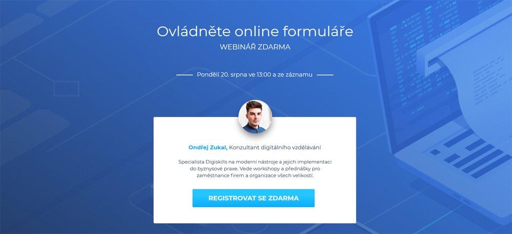 Webinář Ovládněte online formuláře