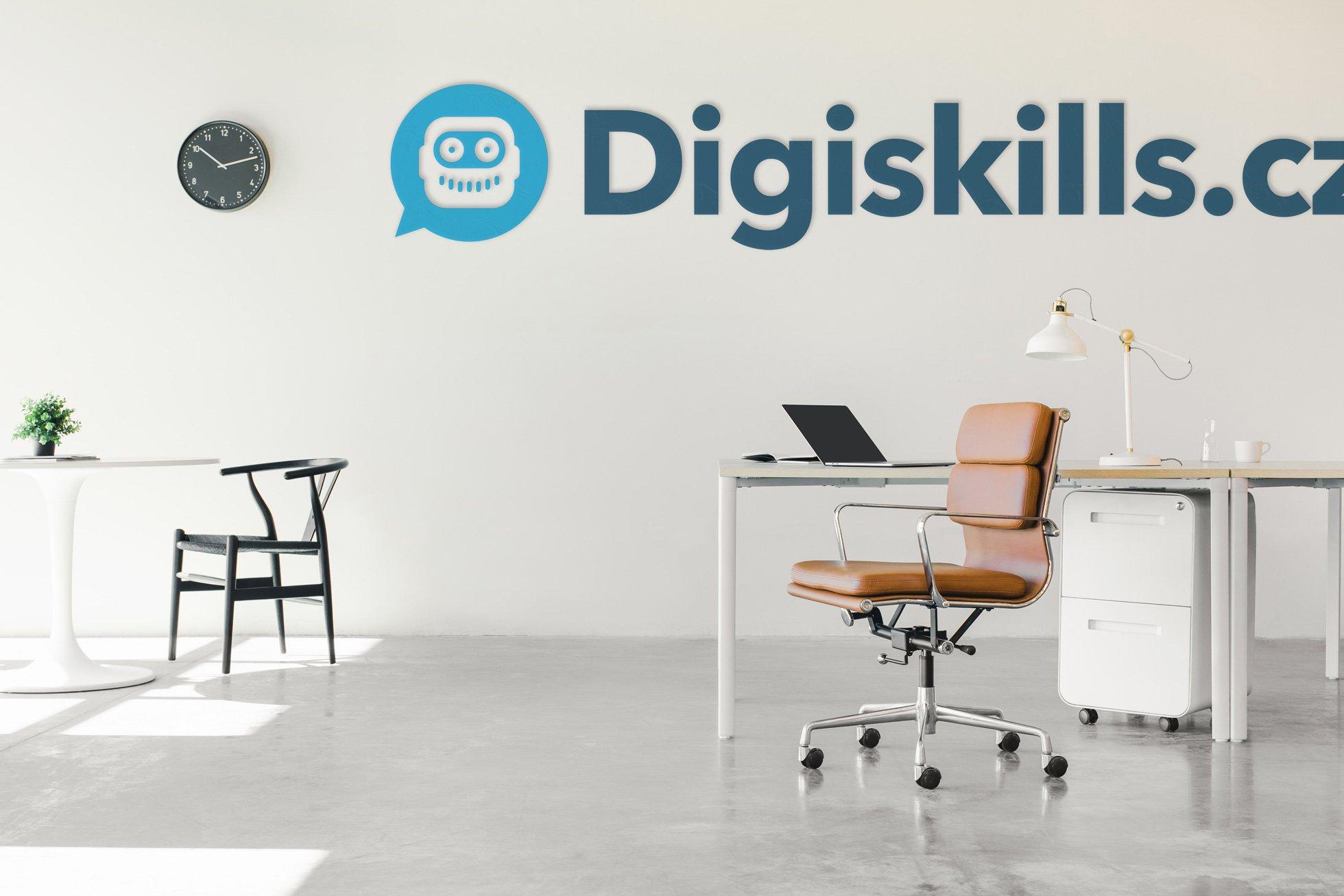 Pozadí s vlastním logem - Digiskills