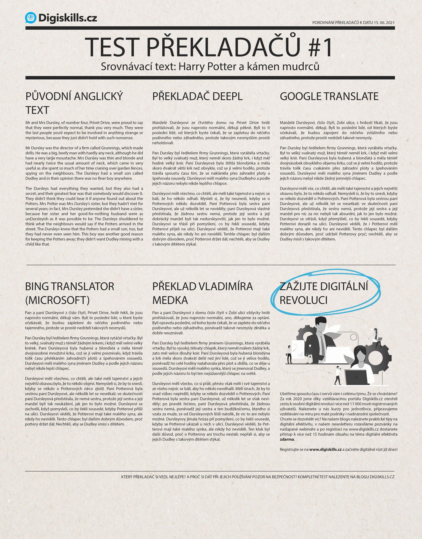 Test překladačů DeepL, Google Translate a Microsoft Translator 1